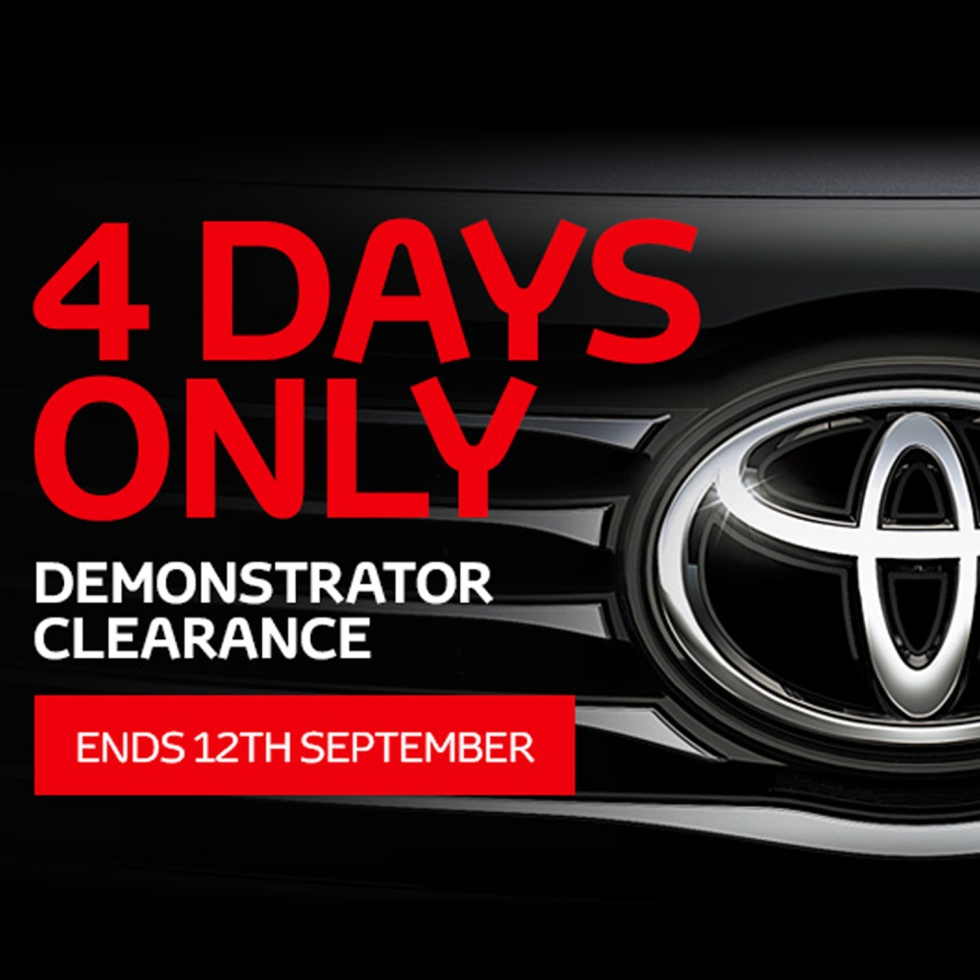 4 Day Demonstrator Clearance