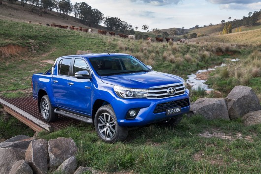 2015 reveal of Toyota HiLux (SR5 double cab pre-production model shown).