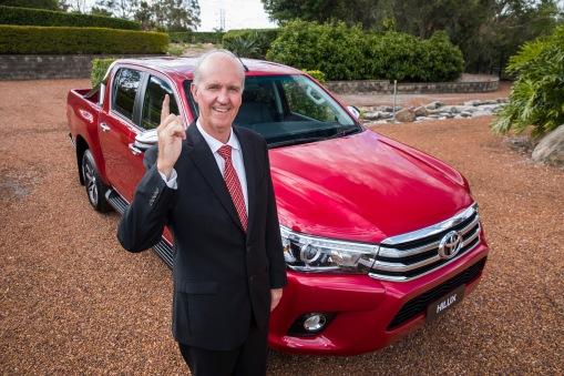 Toyota Australia's Tony Cramb with a HiLux SR5