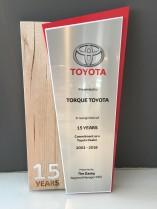 Toyota 15 Year Longevity Award