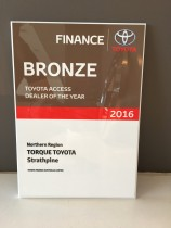 Toyota Access DOTY Bronze Award