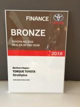 Toyota Access DOTY Bronze Award