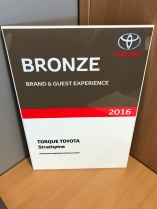 Toyota Brand and Guest Experience Bronze Award