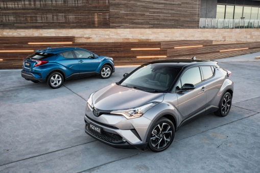2017 Toyota C-HR Koba with optional black roof (right) and C-HR