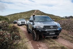 2018 Toyota HiLux Rugged X (right), Rogue and Rugged (rear)